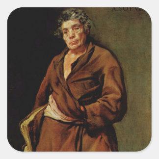 Pintura de Deigo Velázquez Pegatina Cuadrada