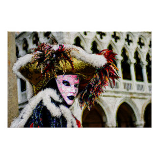 Pintura de Digial de la máscara del carnaval Posters