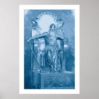 Pintura de Digitaces: Odin Póster