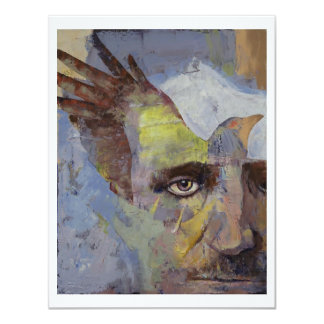 Pintura de Edgar Allan Poe Invitación 10,8 X 13,9 Cm