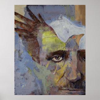 Pintura de Edgar Allan Poe Póster
