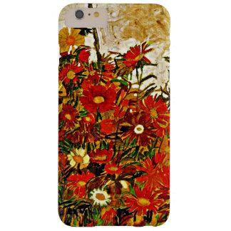 Pintura de Egon Schiele, campo de flores Funda De iPhone 6 Plus Barely There