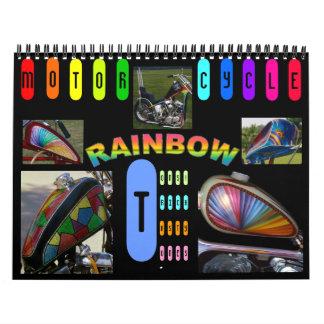Pintura de encargo Midi de la motocicleta 12 meses Calendario De Pared