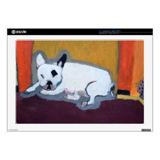 Pintura de Fauve del dogo francés Calcomanía Para Portátil
