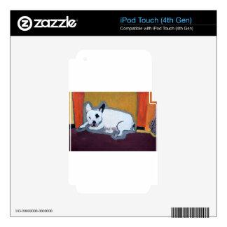 Pintura de Fauve del dogo francés iPod Touch 4G Skin