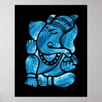 Pintura de Ganesha Póster