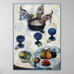 Pintura de Gauguin: Todavía vida con 3 perritos Poster