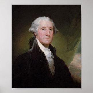 Pintura de George Washington - Gilbert Estuardo Póster