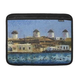 Pintura de Grecia Fundas Macbook Air