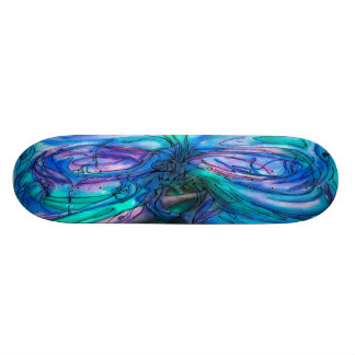Pintura de hadas de la acuarela del árbol de la ma skateboards