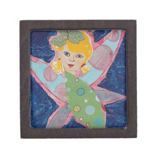 Pintura de hadas del arte del collage de la ninfa  cajas de regalo de calidad