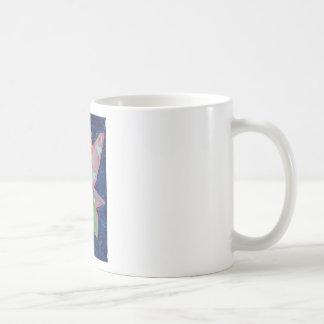 Pintura de hadas del arte del collage de la ninfa taza de café
