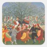 Pintura de Henri Rousseau Colcomania Cuadrada