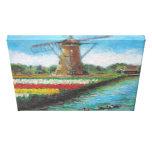 Pintura de Holanda del paisaje del molino de vient Impresión De Lienzo