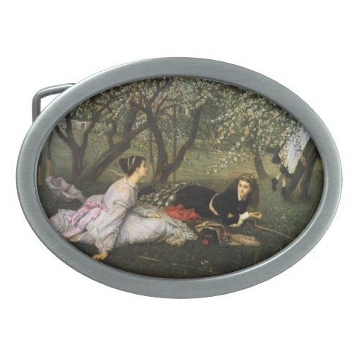 Pintura de James Tissot Hebilla Cinturon Oval