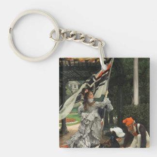 Pintura de James Tissot Llavero Cuadrado Acrílico A Una Cara