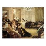 Pintura de James Tissot Postal