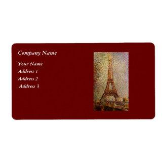 Pintura de Jorte Seurat: La torre Eiffel (1889) Etiquetas De Envío