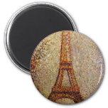 Pintura de Jorte Seurat: La torre Eiffel (1889) Imán Para Frigorifico