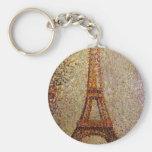 Pintura de Jorte Seurat: La torre Eiffel (1889) Llavero Personalizado