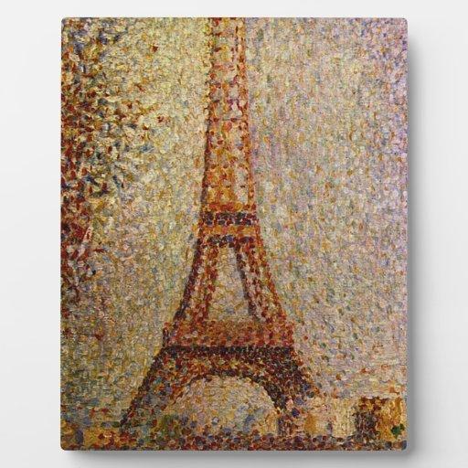 Pintura de Jorte Seurat: La torre Eiffel (1889) Placas