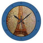 Pintura de Jorte Seurat: La torre Eiffel (1889) Reloj