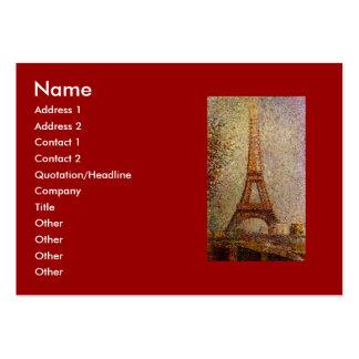 Pintura de Jorte Seurat: La torre Eiffel (1889) Tarjetas De Visita Grandes