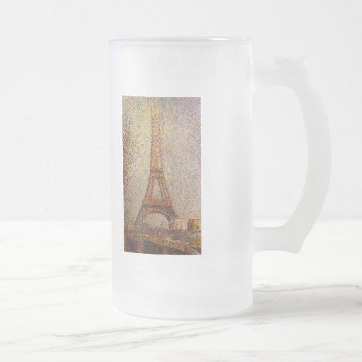 Pintura de Jorte Seurat: La torre Eiffel (1889) Taza De Café