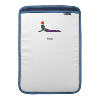 Pintura de la actitud de la yoga de la cobra con funda  MacBook