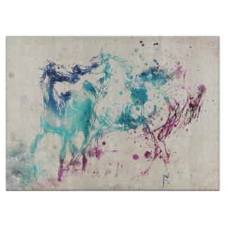 Pintura de la acuarela de Digitaces de caballos Tabla De Cortar