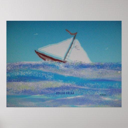 Pintura de la acuarela de Digitaces de los altos m Póster
