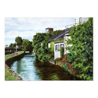 Pintura de la acuarela de Irlanda de la ciudad de Anuncios Personalizados