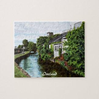 Pintura de la acuarela de Irlanda de la ciudad de  Rompecabezas Con Fotos