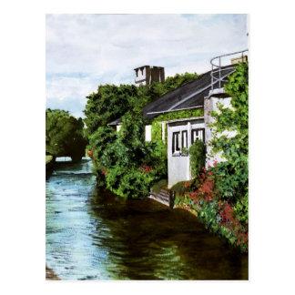 Pintura de la acuarela de Irlanda de la ciudad de  Tarjeta Postal