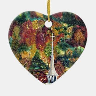Pintura de la acuarela de la fe del otoño adorno