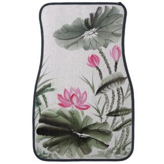 Pintura de la acuarela de la flor de Lotus 2 Alfombrilla De Coche