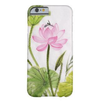 Pintura de la acuarela de la flor de Lotus 2 Funda De iPhone 6 Barely There