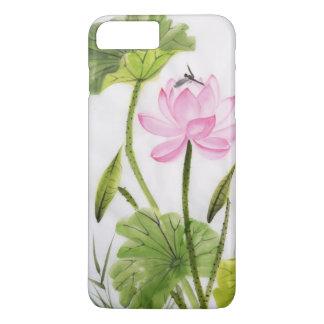 Pintura de la acuarela de la flor de Lotus 2 Funda iPhone 7 Plus