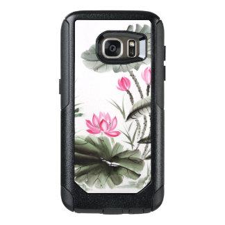 Pintura de la acuarela de la flor de Lotus 2 Funda Otterbox Para Samsung Galaxy S7