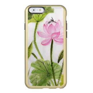Pintura de la acuarela de la flor de Lotus 2 Funda Para iPhone 6 Plus Incipio Feather Shine