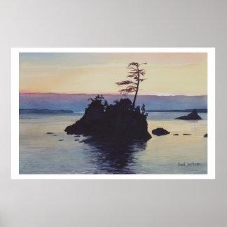 """""""Pintura de la acuarela de la playa de Rockaway de Póster"""