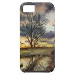 Pintura de la acuarela de la puesta del sol de oct iPhone 5 funda