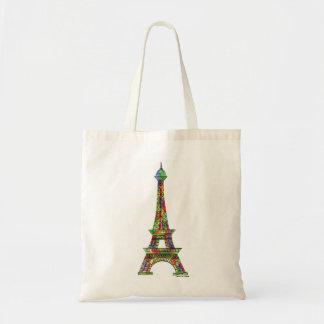 Pintura de la acuarela de la torre Eiffel Bolsa