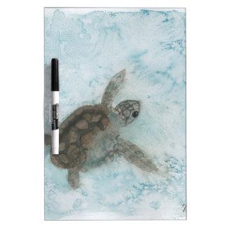 Pintura de la acuarela de la tortuga pizarra