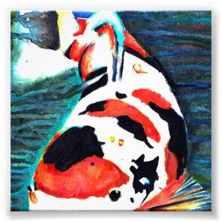 Pintura de la acuarela de los pescados de Koi Arte Fotografico