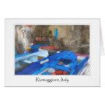 Pintura de la acuarela de Riomaggiore Italia Tarjeton
