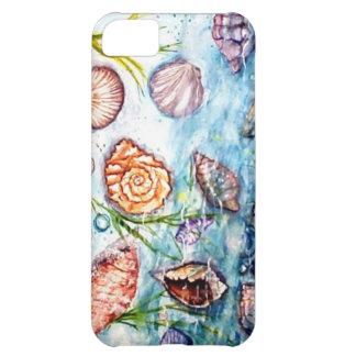 Pintura de la acuarela de Shell del mar