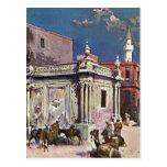 Pintura de la acuarela de Trípoli Libia de los 189 Tarjeta Postal