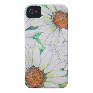 Pintura de la acuarela del campo de la margarita iPhone 4 Case-Mate coberturas