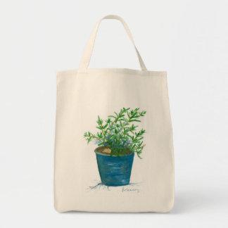 Pintura de la acuarela del jardín de la planta de bolsa tela para la compra